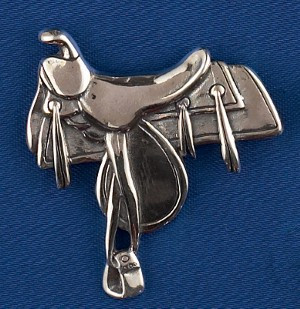 Sterling Silver Western Saddle Pin