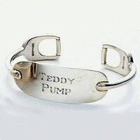 Teddy Pump Engraved Cuff Bracelet