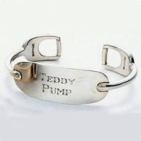 Teddy Pump Engraved Cuff Bracelet