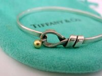 Vintage Tiffany Small Ball Loop bangle Bracelet