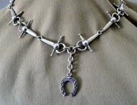 Victorian Solid Silver Snaffle Bit Watch Chain Necklace