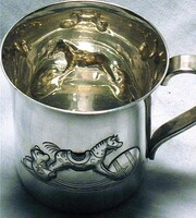 Vintage Sterling Silver Tiffany Rocking Horse Baby Cup