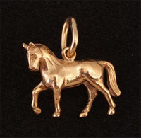 14k Gold Standing Dressage Horse Charm