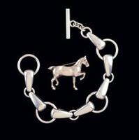 Vintage Georg Jensen Sterling Silver Snaffle Bit Bracelet