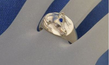 Sterling Silver Arabian Horse Head Ring