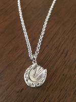Solid Sterling Silver Chunky  Horse Hoof Pendant and Chain