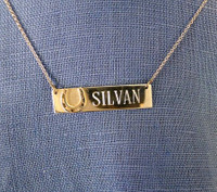 "Sterling Silver ""Silvan"" Nameplate Necklace"