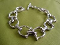 Sterling Silver Horse Bit Motif Bracelet