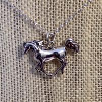 Sterling Silver Arabian Horse on Chain