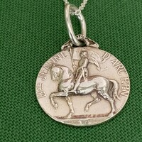 Replica French Sterling Silver Medal with Joan of Arc