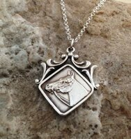 Sterling Silver Art Nouveau Medal Pendant from An Original Fob.