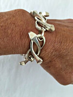 Vintage Sterling Silver Horseshoe Nails Bracelet