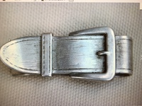 Vintage Sterling Silver Buckle Design Money Clip