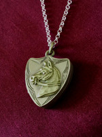 Antique Shield Shaped Locket Pendant