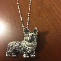 Sterling Silver Corgi Pin and Pendant