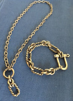 Vintage Gucci Twisted with Shackle Bracelet and Neckpiece. Final sale.