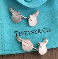 Vintage Sterling Silver Petite Tiffany Saddle Cufflinks