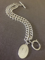 Vintage Ralph Lauren Double Curb Chain Bracelet with Charm