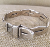 Vintage Gucci Twist Belt Buckle Bangle Bracelet