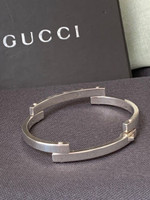 "Vintage Gucci ""Tiered"" Flexible Bangle Bracelet"