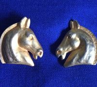 Vintage Classic Hermes Horse Head Earrings