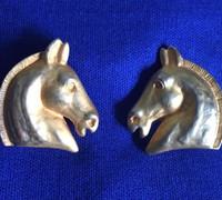 Vintage Classic Hermes Horse Head Earrings