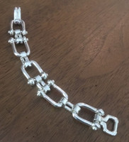 Vintage Ralph Lauren Equestrian Motif Squared Link Bracelet-Small Size