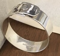 Vintage Ralph Lauren Wide Buckle Bangle Cuff Bracelet