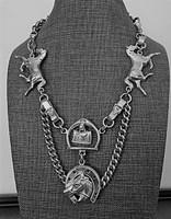 Antique Equestrian Watch Chain Neckpiece
