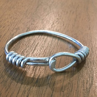 Vintage Gucci Hook, Loop and Coil Sterling Silver Bracelet