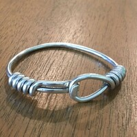 Vintage Gucci Hook, Loop and Coil Sterling Silver Bracelet