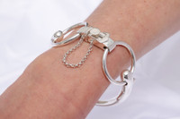 Sterling Silver Snaffle Bit Bracelet from an Antique Trotteur Bit Bracelet