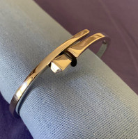 Horseshoe Nail Bangle Bracelet