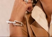 Silver Designer Horse Bit Motif Bracelet