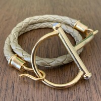 Large Half Snaffle Bit Wrap Bracelet