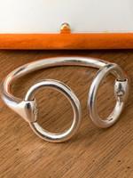 Vintage Hermes Snaffle Bit Bangle Cuff Bracelet