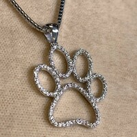 Diamond Dog Paw Pendant