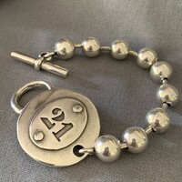 """21"" Ball Bracelet with Toggle Clasp"