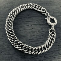 Limited Edition Smaller Link Curb Chain Bracelet with Italian Clasp