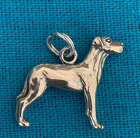 Sterling Silver Great Dane Charm or Pendant