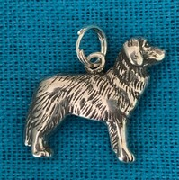 Sterling Silver Newfoundland Dog Charm