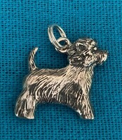 Sterling Silver West Highland Terrier Charm or Pendant