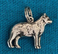 Sterling Silver Dingo Dog Charm or Pendant