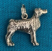 Sterling Silver Brittany Spaniel Dog Charm or Pendant