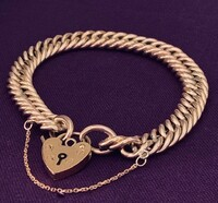 Antique Gold-Filled Tight Link Curb Chain Bracelet