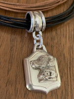 Vintage Kieselstein-Cord Dog Pendant on  Leather Neckpieces
