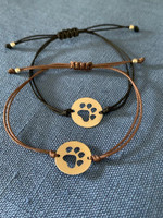Sterling Silver Dog Paw on Gore-Tex Cord Slide Bracelet