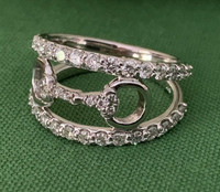 14k Gold and Diamond Snaffle Bit Ring