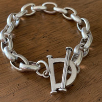 Half Snaffle Bit Bracelet with Toggle Clasp