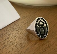 Sterling Silver Oldenburg Horse Breed Signet Ring